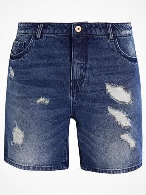 Shorts & kortbyxor - Only ONLBROOKY Jeansshorts dark blue denim