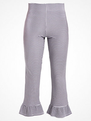 Topshop GINGHAM FRILL Leggings black