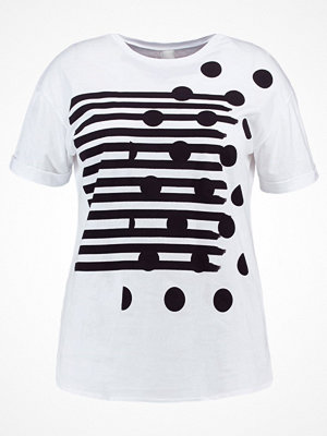 Lost Ink Plus Tshirt med tryck white