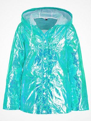 Topshop PAPER METALIC Tunn jacka turquoise
