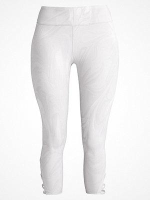 Abercrombie & Fitch ACTIVE CAPRI WRAP Leggings white
