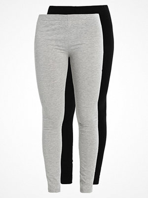 Leggings & tights - Vero Moda VMMAXI 2 PACK Leggings black/light grey melange
