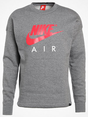 Nike Sportswear CREWNECK Sweatshirt carbon heather/anthracite/siren red