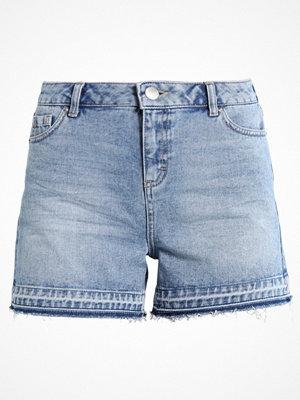 Dorothy Perkins LET DOWN HEM Jeansshorts blue