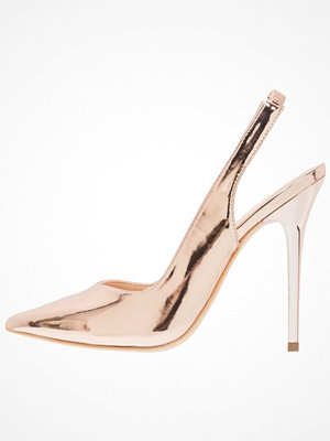 Office HIGHLIFE  Klassiska pumps rose gold mirror