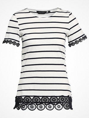 Dorothy Perkins STRIPE LACE Tshirt med tryck navy blue