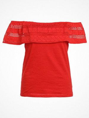 Dorothy Perkins RUFFLE BARDOT Tshirt med tryck red