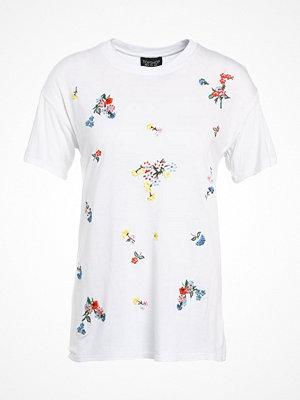 Topshop FLOWER  Tshirt med tryck white