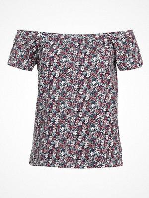 Vero Moda VMJANE OFFSHOULDER  Tshirt med tryck navy blazer/rosa