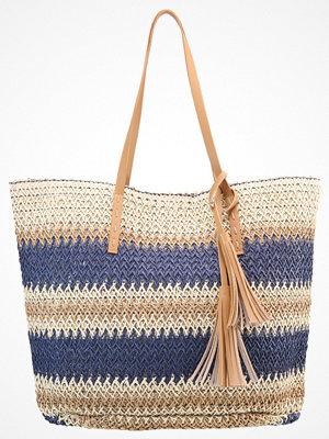 Anna Field randig shopper Shoppingväska blue