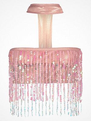 Jaded London SEQUIN FRINGE CHOKER NECK Bikiniöverdel rose gold foil