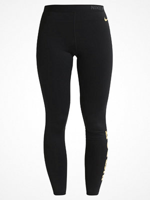 Sportkläder - Nike Performance Tights black/metallic gold