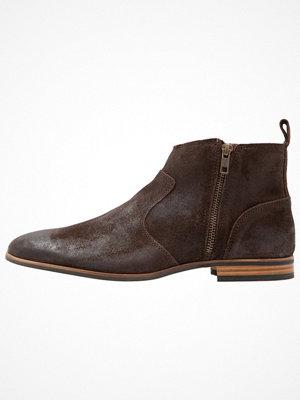 Boots & kängor - Topman NEW ALBION ZIP Stövletter brown