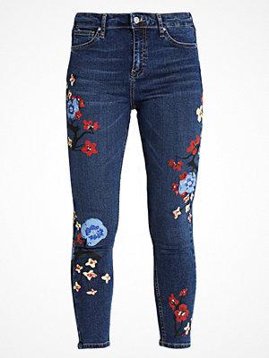 Topshop FLORAL PAINT JAMIE Jeans Skinny Fit middenim