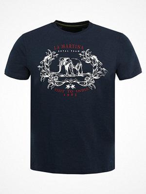 La Martina Tshirt med tryck navy