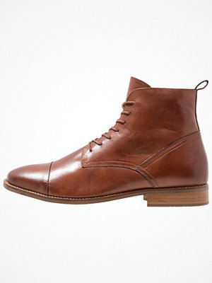 Boots & kängor - Zign Snörstövletter cognac