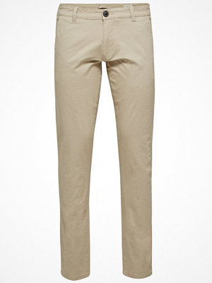 Byxor - Selected Homme Chinos white pepper