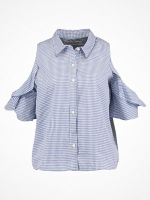 Abercrombie & Fitch RUFFLE COLD SHOLDER Skjorta light blue