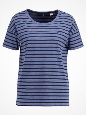 Gant STRIPED  Tshirt med tryck hurricane blue