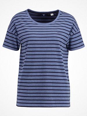 Gant STRIPED  Tshirt med tryck hurricane blue