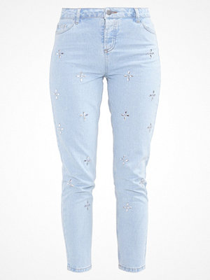 Dorothy Perkins FLORAL GEM EMBELLISHED Jeans slim fit light wash
