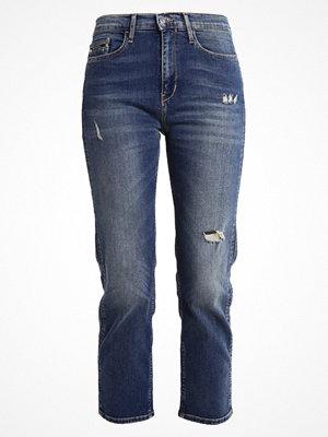 Calvin Klein Jeans HIGH RISE STRAIGHT CROPPED Jeans straight leg shield blue
