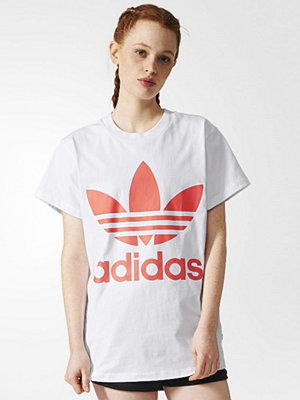 Adidas Originals BIG TREFOIL Tshirt med tryck white/red