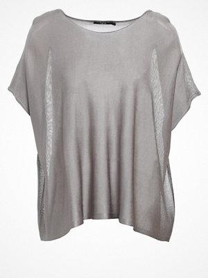 Tigha PINYA Tshirt med tryck mettalic silver