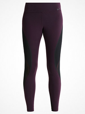 Sportkläder - Nike Performance POWER LEGEND Tights port wine/black/white