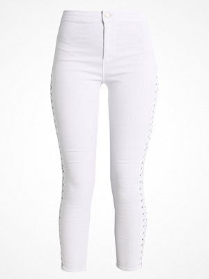 Topshop SIDE LACE JONI Jeans Skinny Fit white