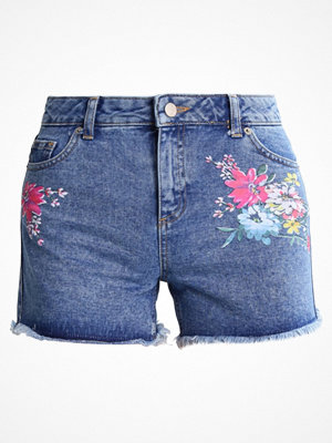 Dorothy Perkins FLORAL Jeansshorts mid wash