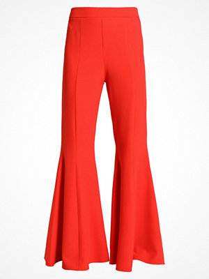 Topshop EXTREME FLARE     Tygbyxor red
