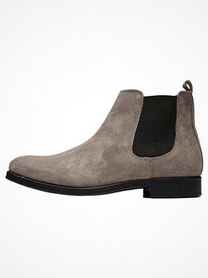 Boots & kängor - Selected Homme Stövletter grey