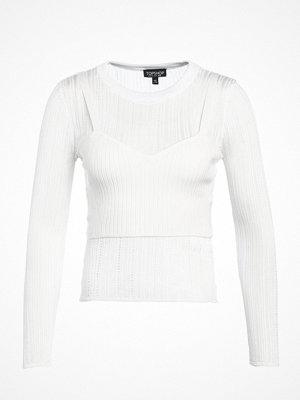 Tröjor - Topshop CORSET POINTELLE Stickad tröja ivory