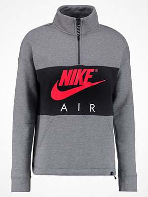 Nike Sportswear AIR HALF ZIP TOP Sweatshirt carbon heather/anthracite/siren red