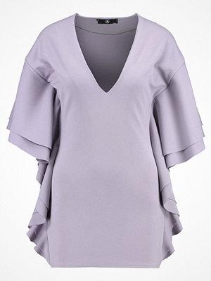 Missguided Petite FRILL Jerseyklänning grey