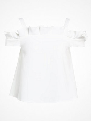 Topshop BOX PLEAT BARDOT   Blus ivory