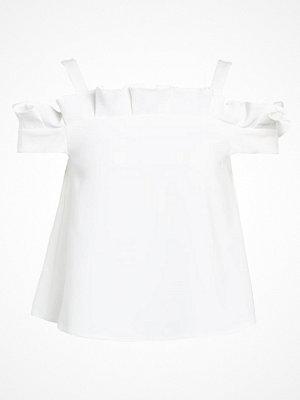 Topshop BOX PLEAT BARDOT   Tshirt med tryck ivory
