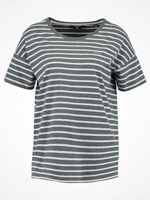 Gant STRIPED  Tshirt med tryck antracit melange
