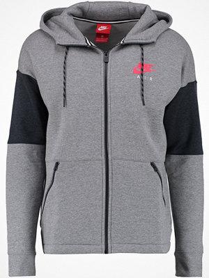 Street & luvtröjor - Nike Sportswear AIR Sweatshirt carbon heather/anthracite/siren red