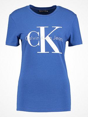 Calvin Klein Jeans SHRUNKEN TRUE ICON  Tshirt med tryck mazarine blue