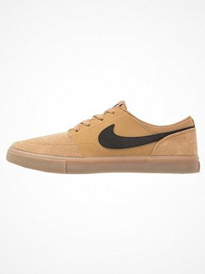 Nike Sb SOLARSOFT PORTMORE II Sneakers golden beige/light brown/white/black
