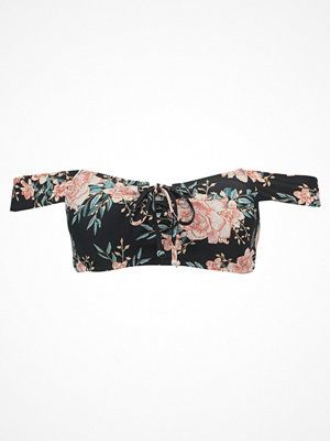 Billabong LET IT BLOOM LACE UP Bikiniöverdel black sands