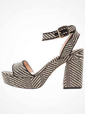 Sandaler & sandaletter - Topshop LOVE WOVEN PLAT   Platåsandaletter monochrome