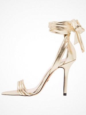 Topshop RAMONA ANKLE TIE 2 Sandaletter gold