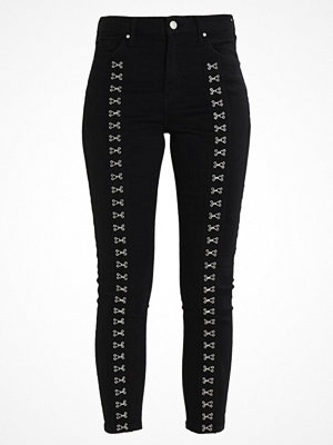 Jeans - Topshop HOOK EYE JAMIE Jeans Skinny Fit black