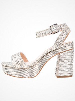 Sandaler & sandaletter - Topshop LOVE WOVEN PLAT   Platåsandaletter silver