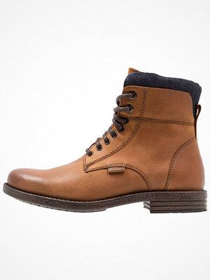Boots & kängor - Levi's® EMERSON COLLAR Snörstövletter medium brown