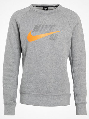 Nike Sb Sweatshirt dark grey heather/circuit orange
