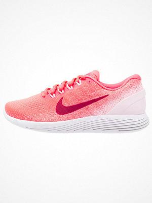 Nike Performance LUNARGLIDE 9 Löparskor stabilitet hot punch/noble red/arctic pink/white